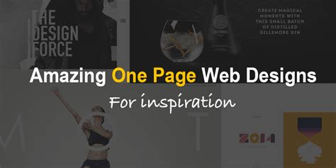 design inspiration one page amazing one page website designs for inspiration themevan