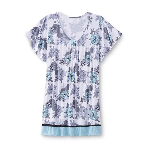 Big Size Floral Blouse By Kathy Ireland kathy ireland s pajama top floral