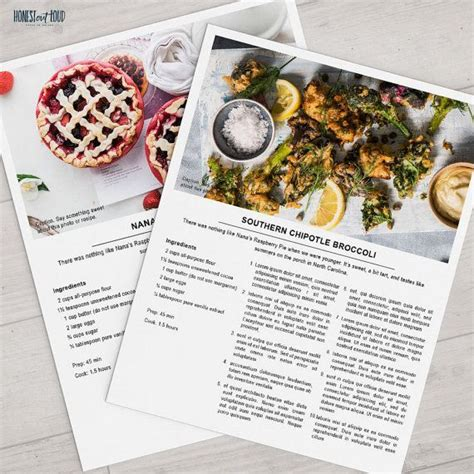 templates for cookbooks cookbook template free free printable