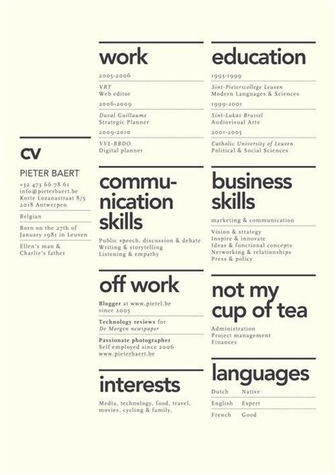 sections in a cv 7 creative resume design layouts that will set you apart