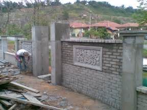 concrete wall fence designs images