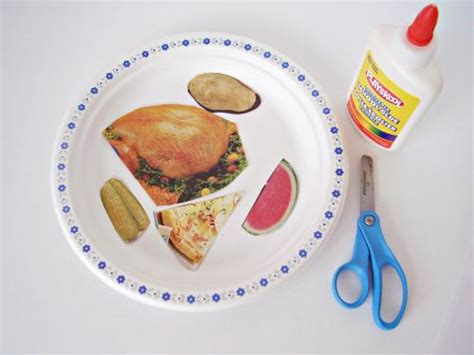 Paper Plate Food Crafts - thanksgiving craft for using a paper plate