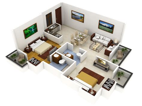 home design plans ground floor 3d 2 bedroom home plans popular interior house ideas