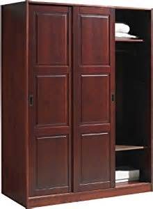 Small Clothing Armoire 100 Solid Wood 3 Sliding Door Wardrobe