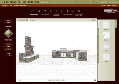 outdoor kitchen design tool outdoor design tool from eldorado stone landscaping network