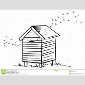 Bee hive stock ...