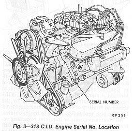 73 dodge engine number st location
