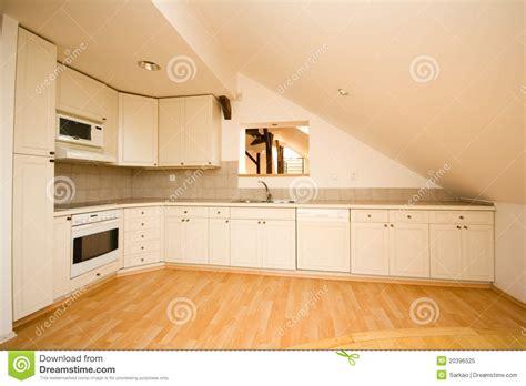 empty kitchen empty white kitchen stock image image of classic worktop