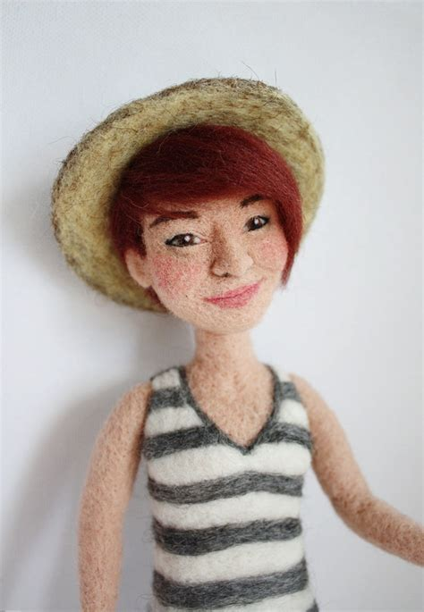needle felted doll personalized needle felted doll