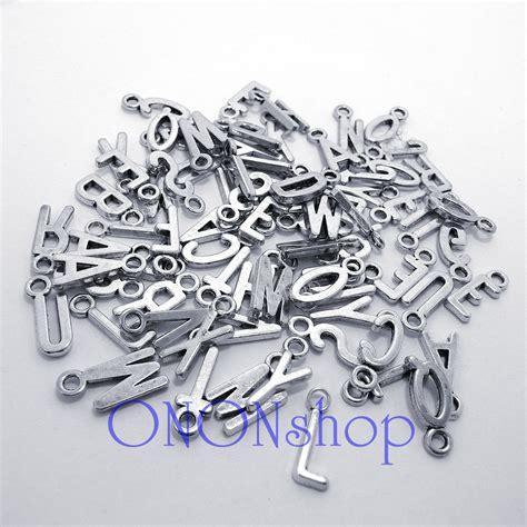 bead landing charms metal letter charms 78 pieces bead landing metal alphabet
