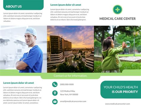 free medical brochure templates for word free tri fold