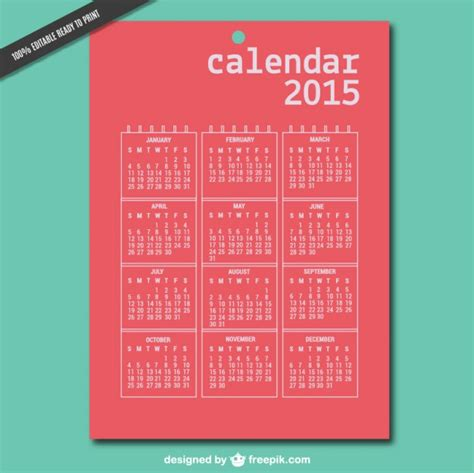 calendar design 2015 vector free download printable 2015 vector calendar vector free download