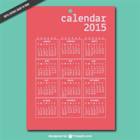 Calendario Ist 2015 Druckbare 2015 Vektor Kalender Der Kostenlosen
