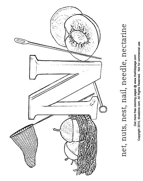 free coloring pages letter n letter n preschool coloring pages coloring home