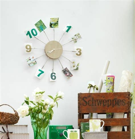 wall decorations modern clock with photo wall decor