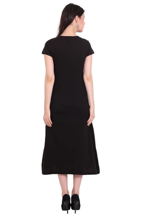 Maxi Rayon Black rayon crepe dress solid black maxi dresses buy at