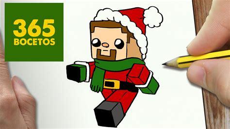 imagenes kawaii de minecraft como dibujar un steve para navidad paso a paso dibujos
