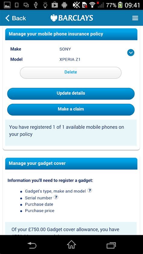 barclays mobile insurance barclays phone gadget cover android apps on play