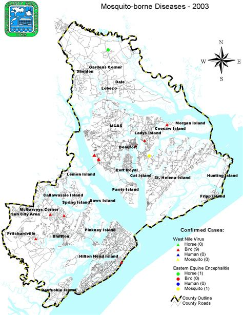 Beaufort County Property Records Mosquito Borne Disease Maps
