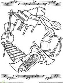 music mandala worksheet education com