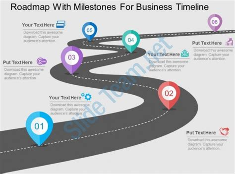 Roadmap With Milestones For Business Timeline Flat Powerpoint Design Ppt Images Gallery Strategy Roadmap Ppt