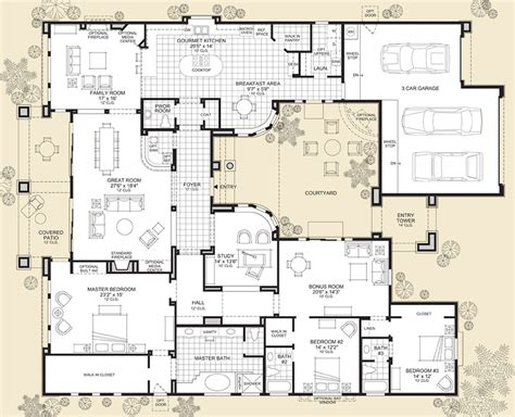 luxury home blueprints treviso the sonterra home design