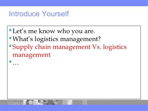 Supply Chain Management Notes For Mba Ou by Free Lecture For Bca