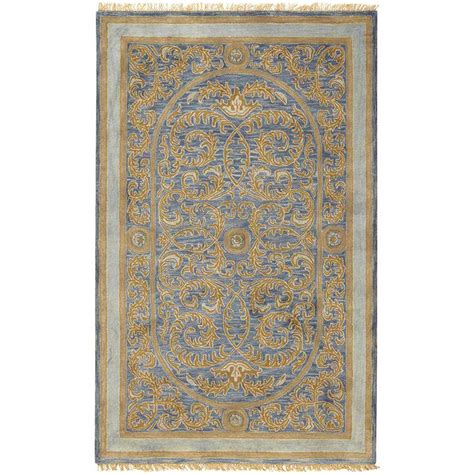 collection area rugs home decorators collection colette blue 3 ft 6 in x 5 ft 6 in area rug 3839430310 the home
