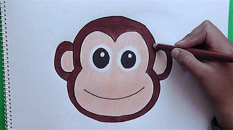 imagenes de monos faciles para dibujar como dibujar y colorear a rostro de mono how to draw and