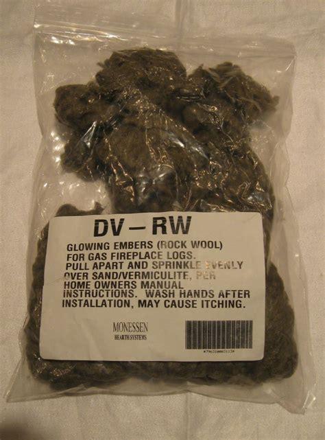 Rockwool For Fireplace Dvrw Rock Wool Glowing Embers For Gas Fireplace Hechler