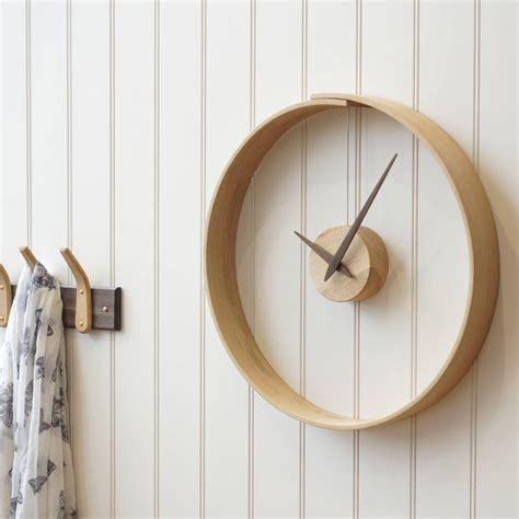 wooden clocks steam bent wooden clock by layertree notonthehighstreet com
