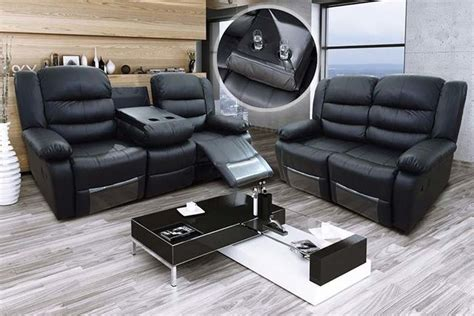 recliner sofas with cup holders romina leather recliner sofas with cup holders 2 colours