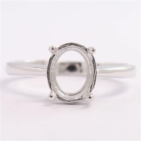 s s fashion jewelry semi mount 8x10 mm oval