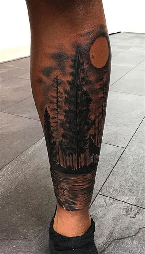 wolf in the forest tattoo inkstylemag