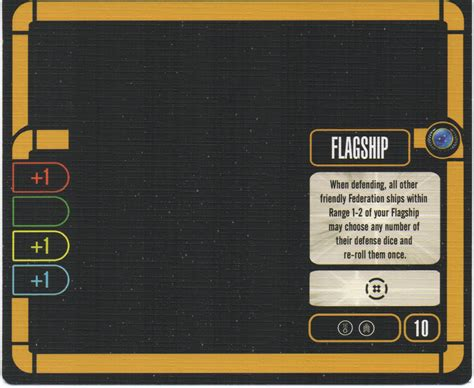 Trek Attack Wing Card Template by Flagship Cards Cost 10 Trek Attack Wing Wiki