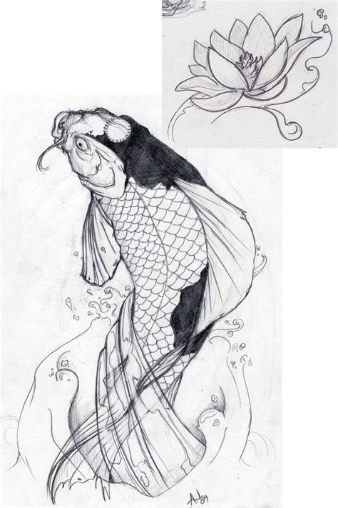tattoo design sketch zodiac designs there is only here koi fish