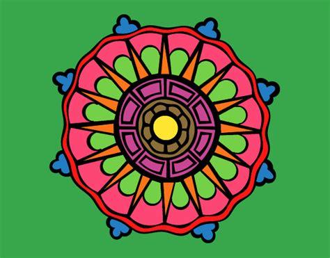 www mandala desenho de mandala com sol raios pintado e colorido por