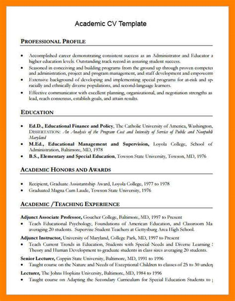 10 table of contents word template academic resume template 10 academic cv template word time table chart
