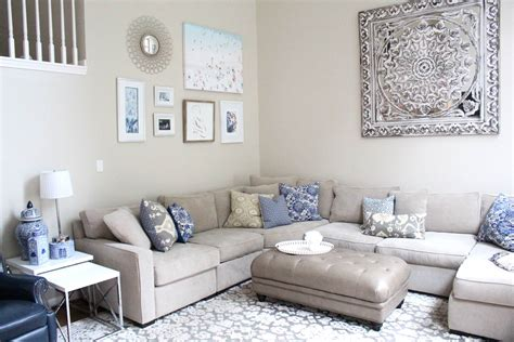 Gray Blue Living Room Diy Gallery Wall