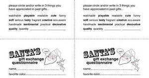 secret santa gift exchange template secret santa gift exchange forms secret santa