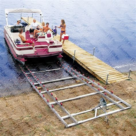 pontoon lift pontoon boat r roll n go shore rs pontoon boat lifts