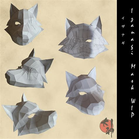 Papercraft Wolf Mask - okami izanagi s mask w i p by cherry kun on deviantart