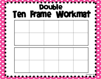 ten frame workmats freebie by primarily speaking by