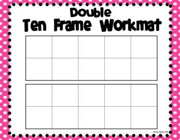 10 frame template printable ten frame workmats freebie by primarily speaking by