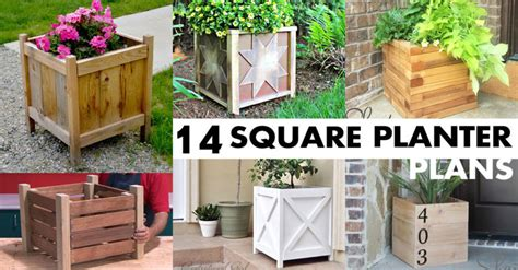square planter box plans   diy