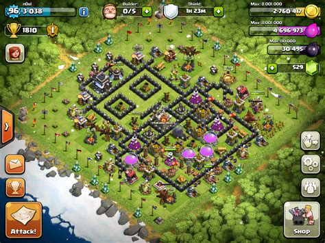 coc christmas layout clash of clans th9 th10 christmas base layout