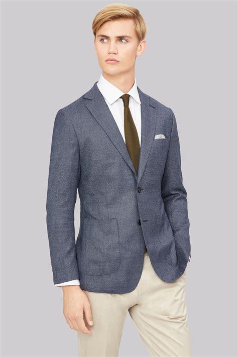 Texture Jacket by Hardy Amies Blue Texture Jacket