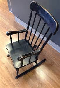 Antique Black Rocking Chair by Antique Black Childrens Rocking Chair Late 60s Made Of
