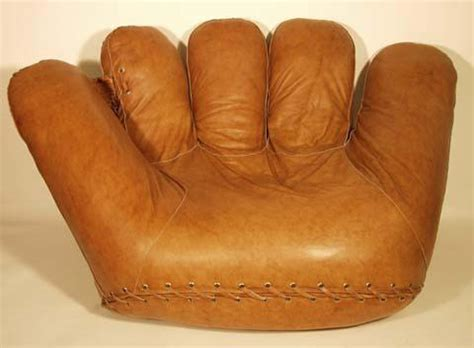 baseball glove couch part of my world