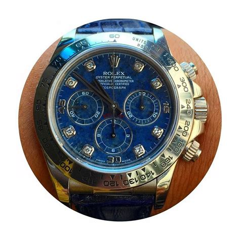 Jam Tangan Rolex White Gold jual jam tangan rolex daytona white gold blue sodalite
